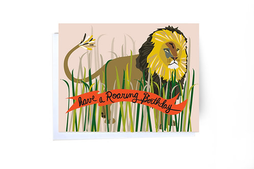 Have A Roaring Birthday Note Card