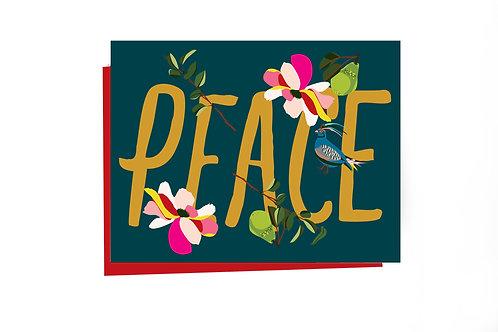 Peace Holiday Note Card