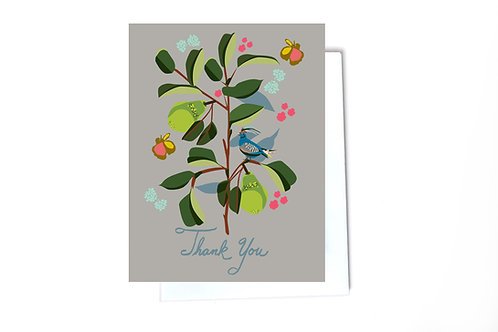 Sweet pears thank you Note Card