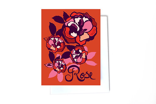 Rose Note Card