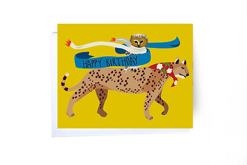 Unlikely Friends Birthday Note Card