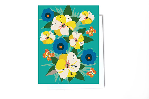 Pansy Flower Card