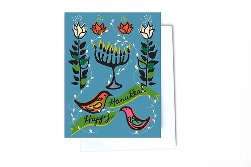 Menorah Holiday Note Card