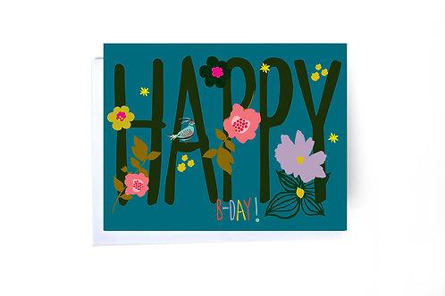 Big Happy B-Day Note Card