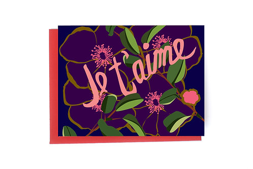 Je t'aime Note Card (I love you)