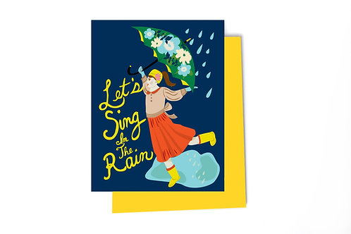 Let's Sing in the Rain Card