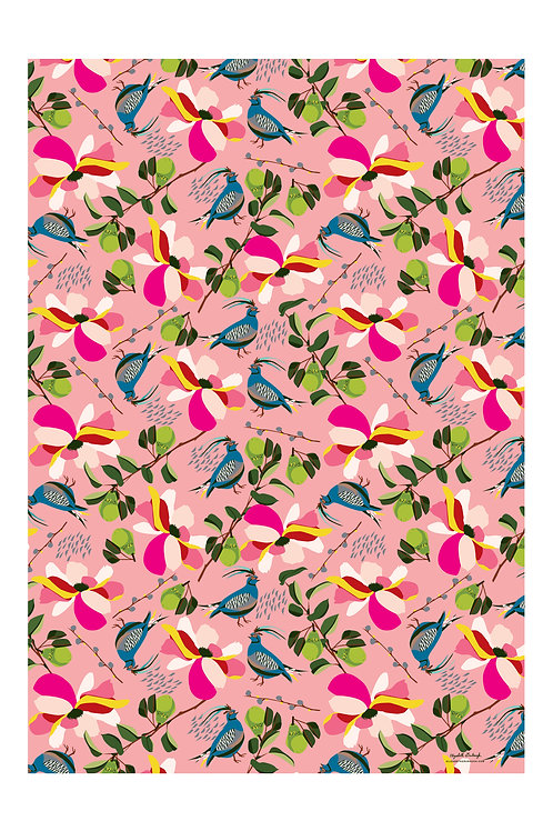 Pears Wrapping Paper in Pink