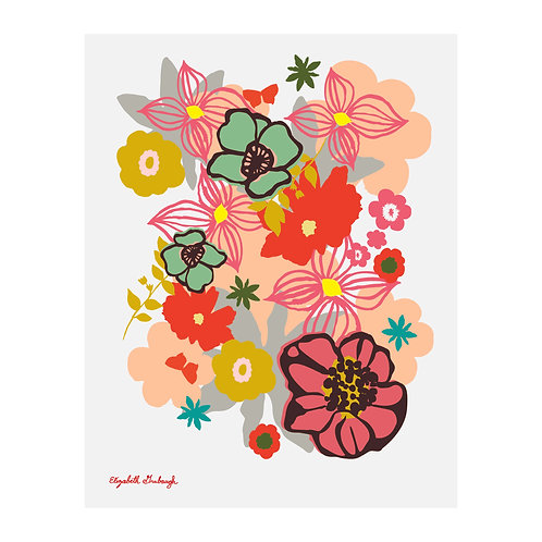 Peek Flower Print