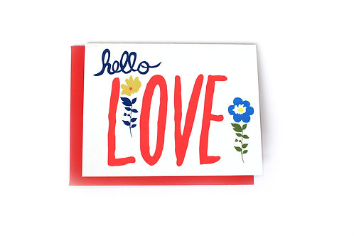 Hello Love Note Card