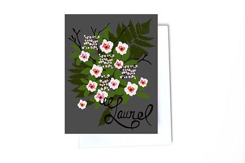 Mountain Laurel Note Card
