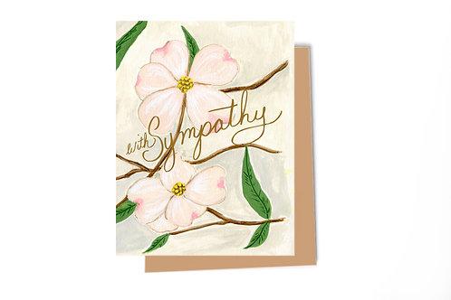 Dogwood Sympathy Card