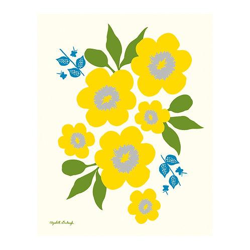 Sunshine Flower Print