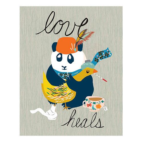 Love Heals Print