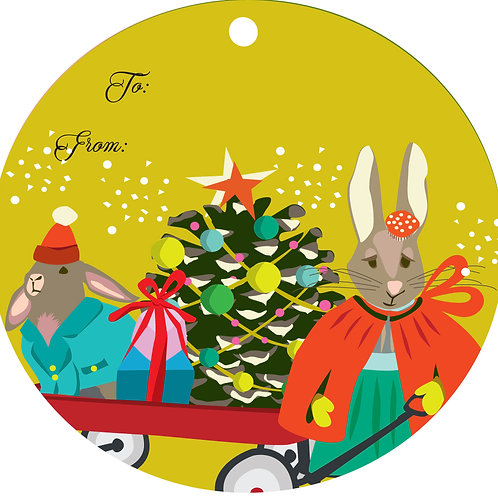 Bunnies & Pinecone Gift Tags