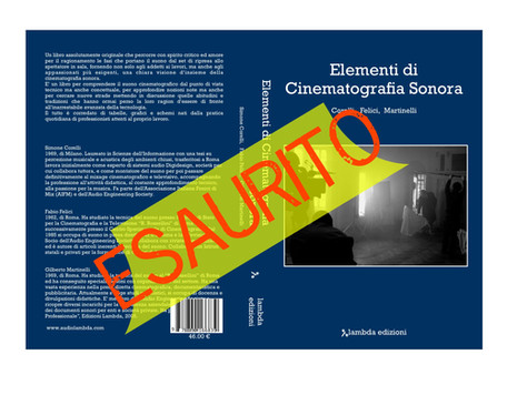 Elementi di Cinematografia Sonora ESAURITO