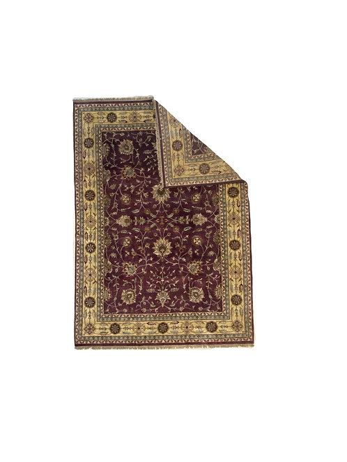 8x8 Brownish/Gold Wool Handmade Rug