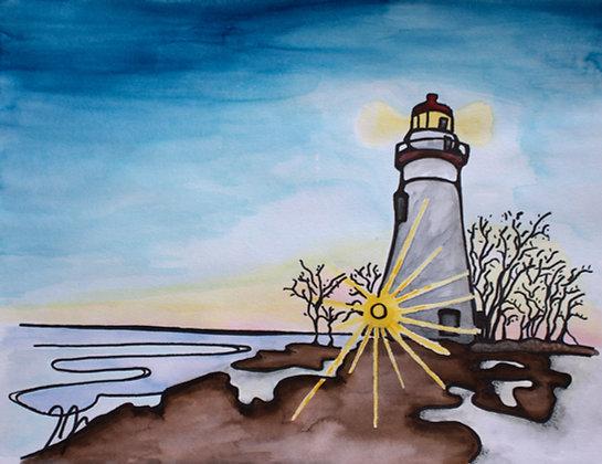 Lighthouse at Sunrise II