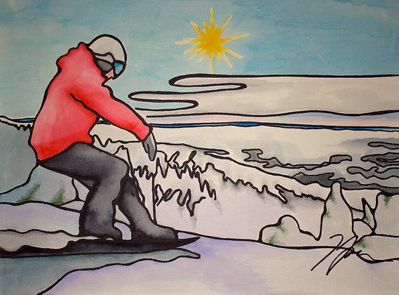 Snowboarding at Big White