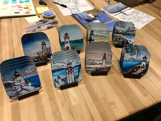 Lighthouse Coasters