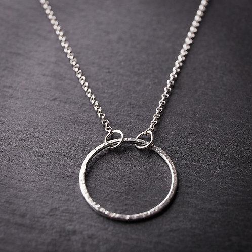 Silver Medium Circle Necklace