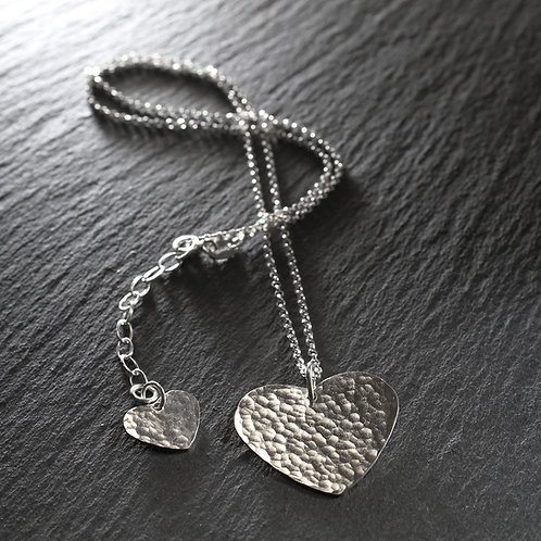 Silver Large Heart Necklace