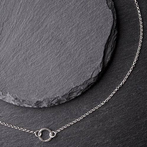 Silver Small Circle Necklace