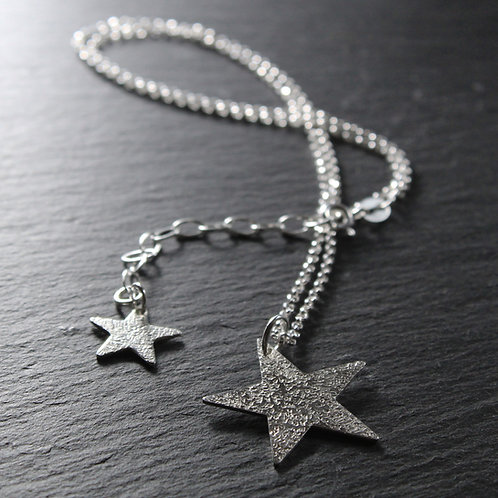 Large Hammered Star Necklace