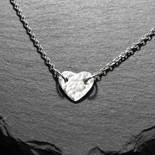 Silver Small Heart Necklace