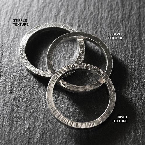 Handmade Silver Stacking Rings Single