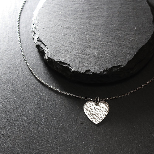 Silver Medium Heart Necklace