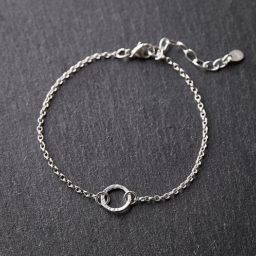 Silver Small Circle Bracelet