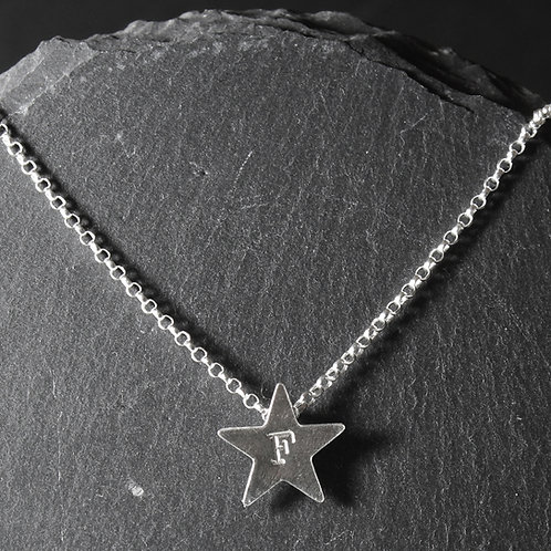 Small Personalised Star Necklace
