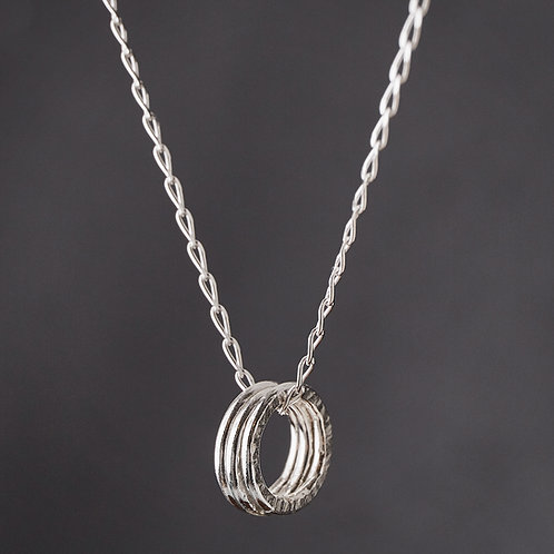 Silver Triple Circle Necklace