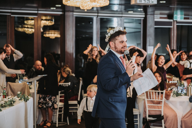Nathan Cassar: Master of Ceremonies playing the Wedding Couple True or False? Game with guests