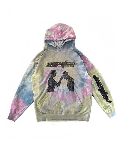 Eternal mind dark tie dye hoodie