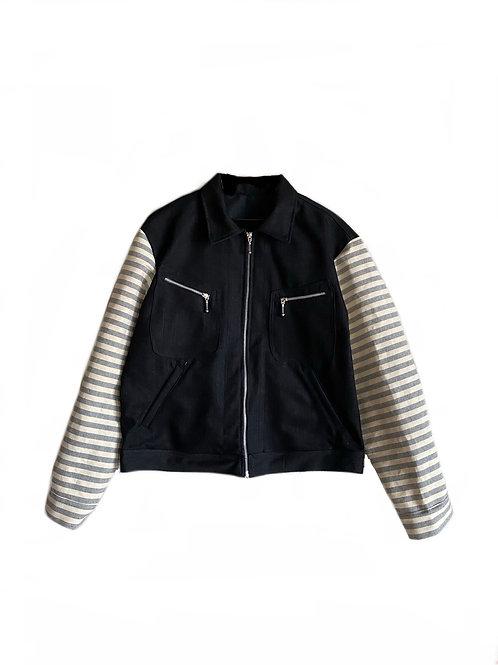 Black denim workers jacket