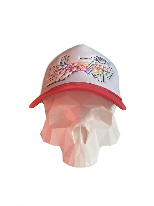 Red color theory cyber trucker