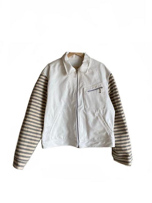 White denim workers jacket