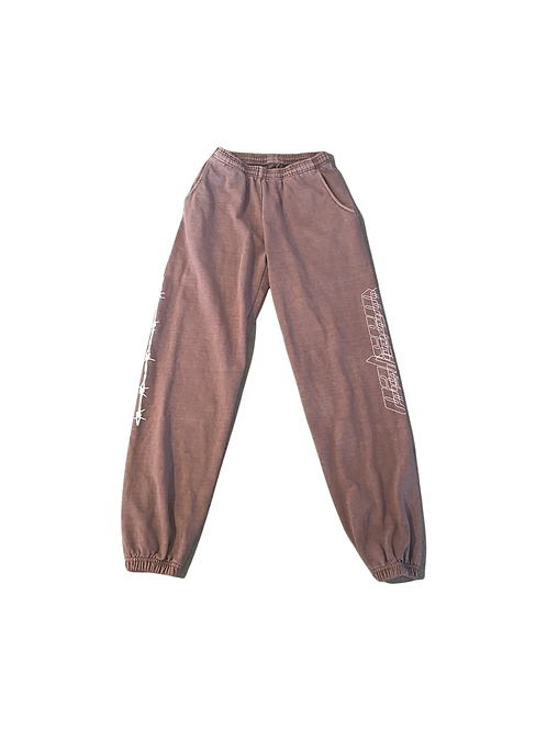 Wasted French terry sweatpants
