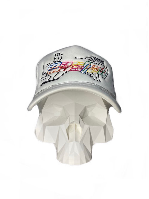 Color theory cyber trucker all white