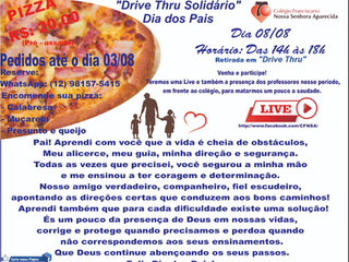 """""""Drive Thru Solidário""""  - Dia dos Pais"""
