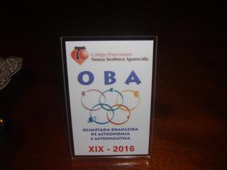 Premiação da Olimpíada Brasileira de Astronomia (OBA)