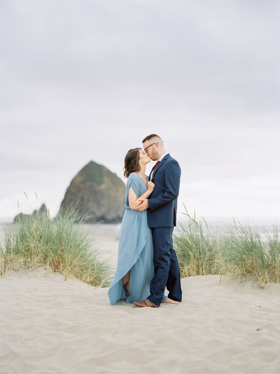 Cannon Beach Film Sunset Engagement session