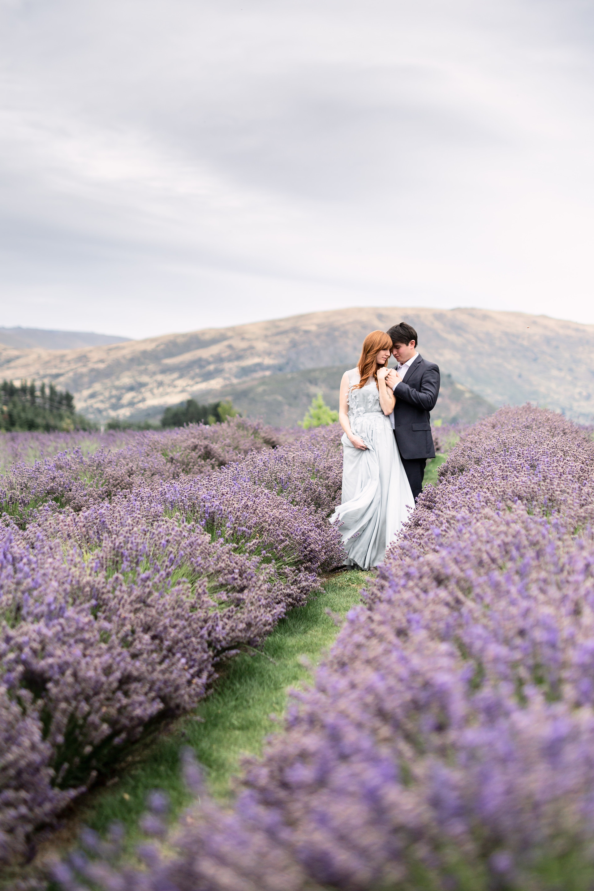Lavender Farm - Engagament Photos - New Zealand - International Wedding Photographer MacCoy Dean