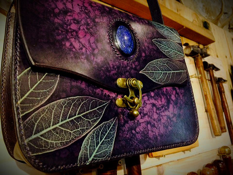 Sac Feuille purple