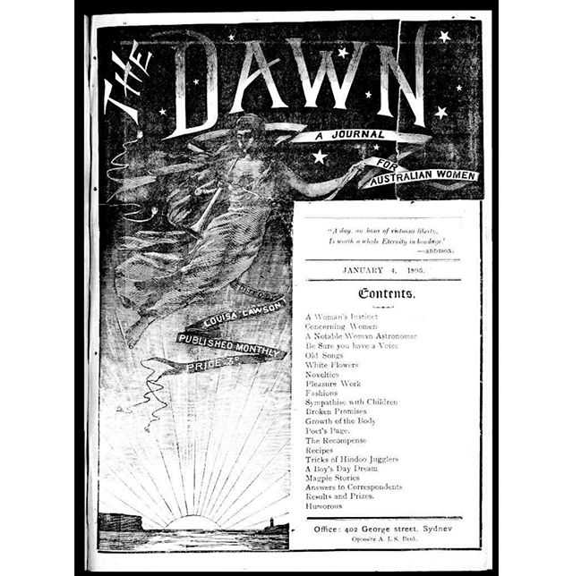 HAPPY INTERNATIONAL WOMEN'S DAY!_The Dawn_ A Journal for Australian Women was an early feminist journal published monthly in Sydney, Austral