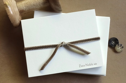 customised letterpress notecard