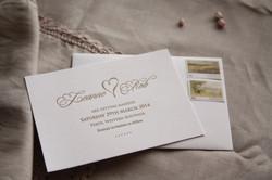 Save the date letterpress invitation