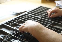 Letterpress workshop Perth Califonia job case