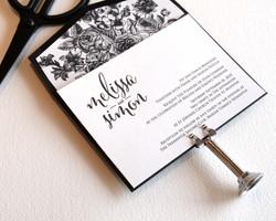 monochrome letterpress wedding5